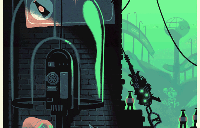 Fallout Inspired print by Glen Brogan for Hero Complex Gallery