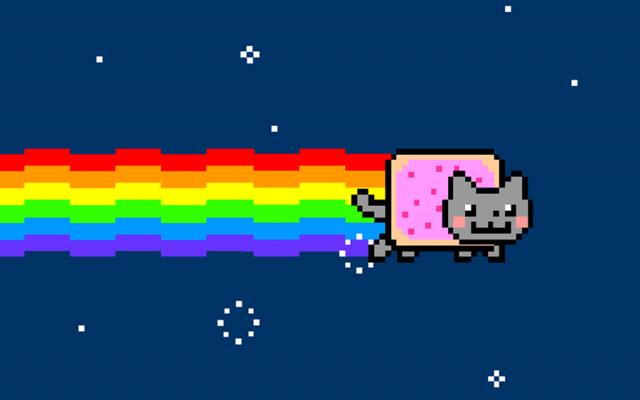 Certainement l'un des mèmes les plus connu de ces dernières années, le fameux Nyan-cat créé par Chris Torres sous le pseudo « PRguitarman »
