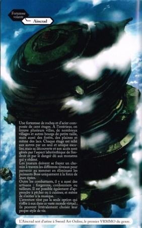 Un artwork de la forteresse volante Aincrad