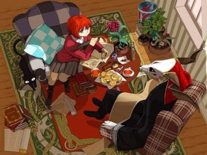 L'une des planches colorisées du mangas