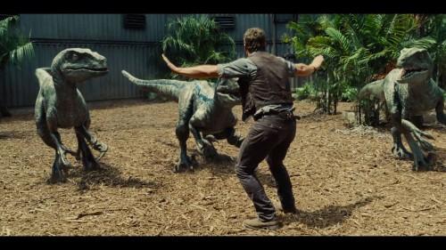 L'une des scènes mythique du film qui montre le dressage des raptors