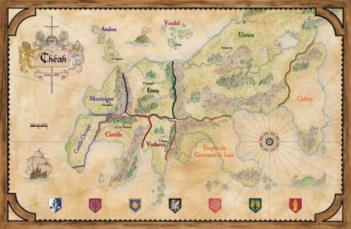 La carte de Théah, l'univers dans lequel vous évoluez