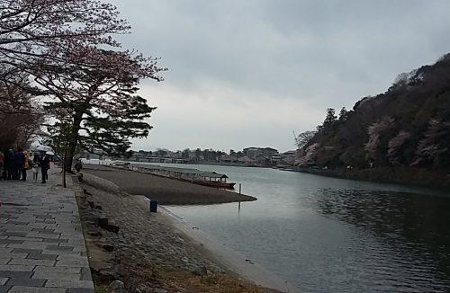 La rivière vue à la sortie de Kameyama Koen