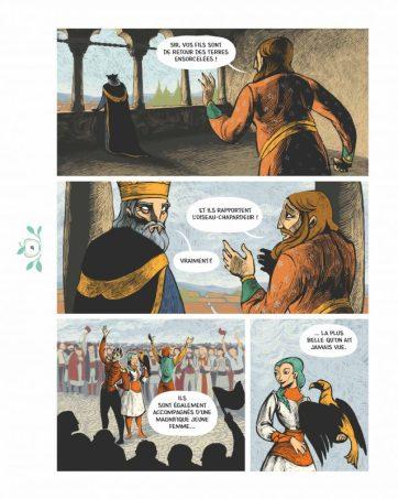 Seconde page du récit, retour des héros des terres ensorcelées...