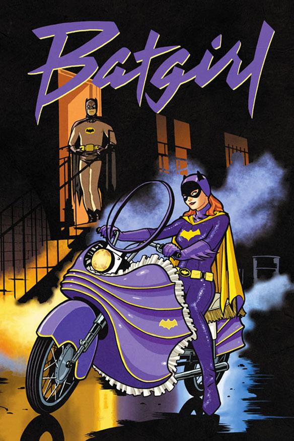 Batgirl 66 Purple Rain Art Print
