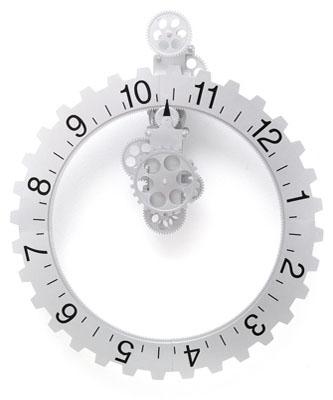 Invotis Reloj de pared de engranajes