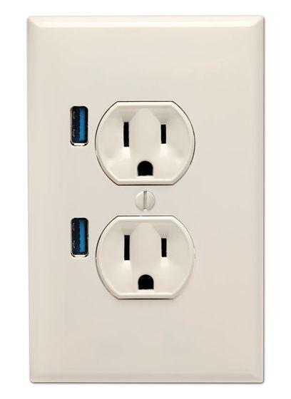 U-entrada de USB Plug pared