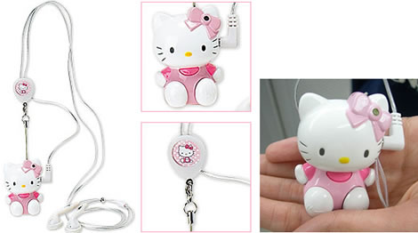 Hello Kitty Mascot MP3 Player