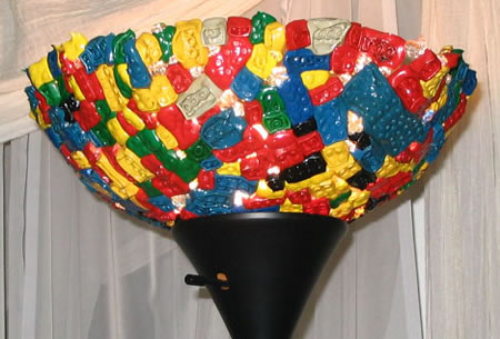 Melted LEGO Lamp