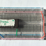 Sample PROM in a breadboard.