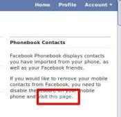 Turn off FB Phonebook Link