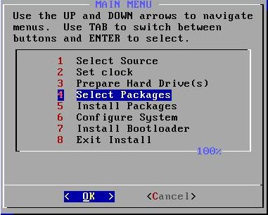 Arch Main Installation Menu