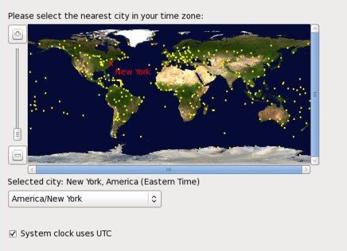 Time Zone Dialog