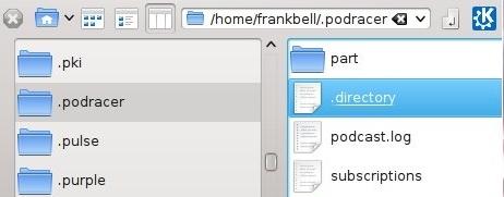 Podracer configuration files