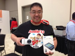 Calvin Lee and his new Samsung devices