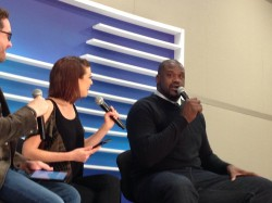 Shaq at the Blogger Lounge