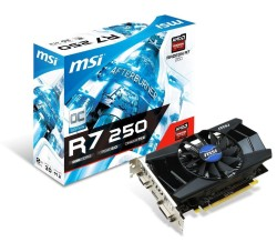 MSI R7-250 video graphics card