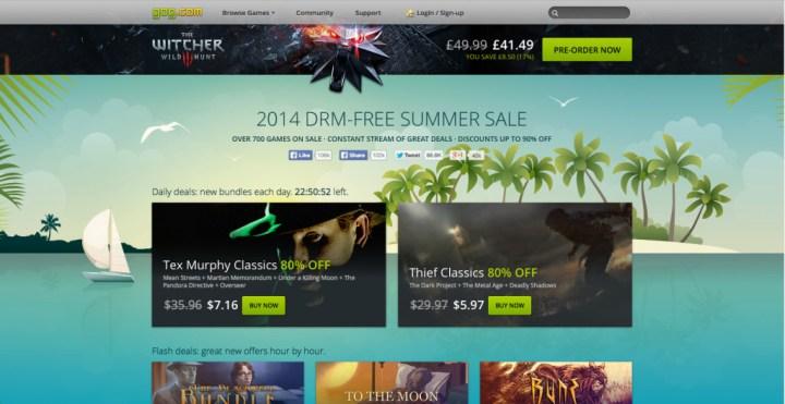 GOG 2014 DRM-Free Summer Sale