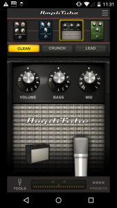 Amplitube software for Android