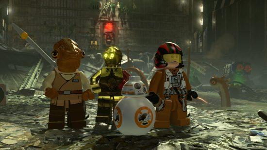 Les environnements sont aussi détaillés que les personnages - LEGO Star Wars The Force Awakens