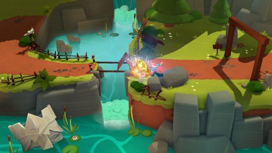 Mages of Mystralia se joue dans un monde inspiré des dessins animés avec ses graphiques colorés