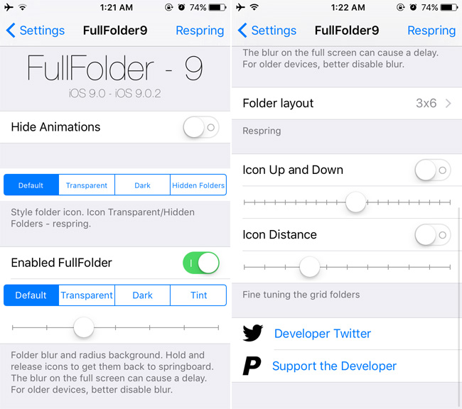 How To Get Full-screen Folders In iOS 9