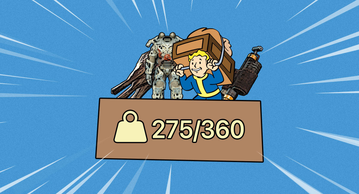 Fallout 76: Top Tips On How To Increase Carry Weight