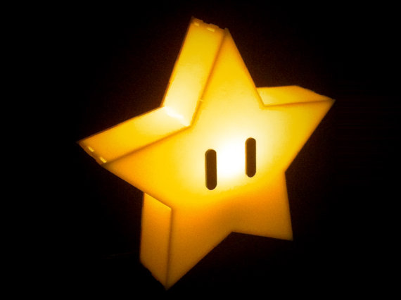 SUPER MARIO BROS Star Lamp Geek Decor