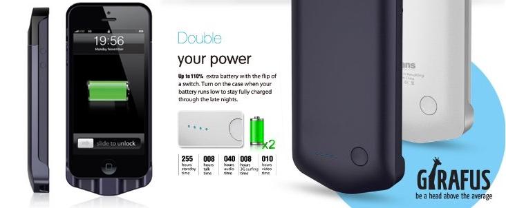 Cover ricaricabatteria per iPhone 5