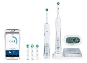 """Lo smart-spazzolino da denti corredato di display led e app per iPhone o Android che ti dà consigli mentre ti lavi i denti, crea programmi di """"spazzolamento"""" personalizzati sui tuoi problemi dentali e ti premia con trofei quando raggiungi i tuoi obiettivi. Lo trovi su Amazon in formato famiglia."""