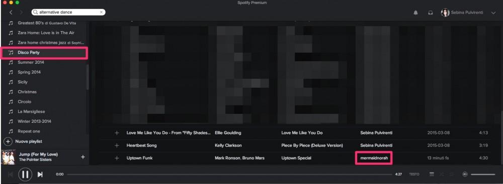 Esempio di playlist collaborativa su Spotify