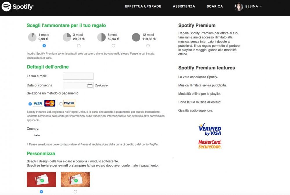 Regali last minute: abbonamento Spotify Premium