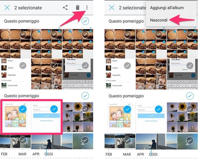 Carousel - Come nascondere delle immagini