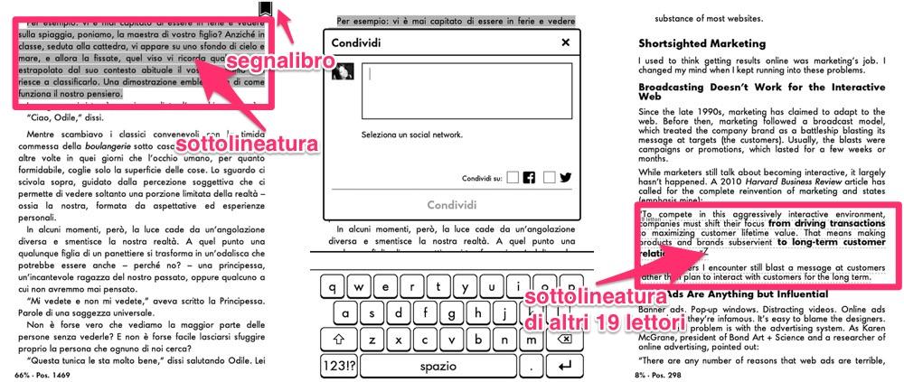 Sottolineare e condividere citazioni su Kindle