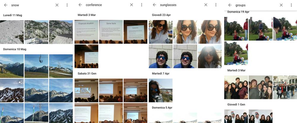 Google Foto: le funzioni di ricerca sono efficacissime