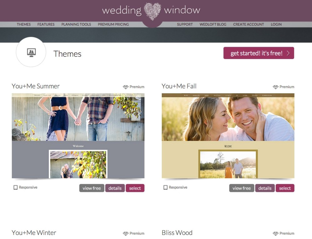 Crea un sito web per le nozze con Wedding Window