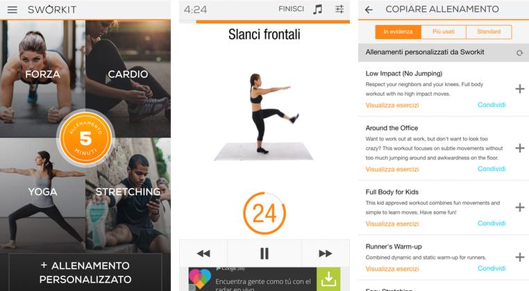 Sworkit: l'app che porta un personal trainer ovunque ti trovi