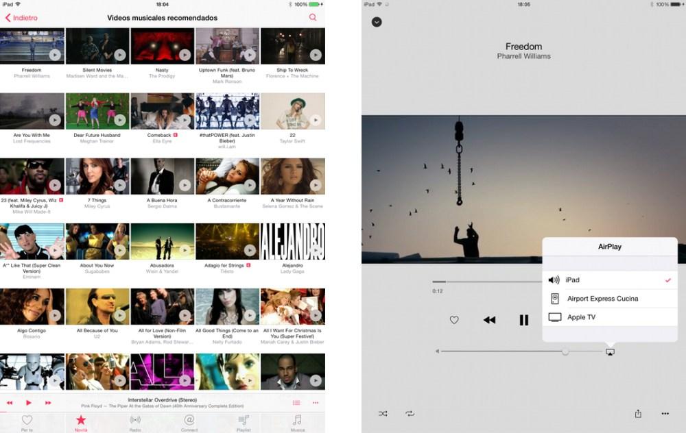 Apple Music offre un'ampia selezione di contenuti video
