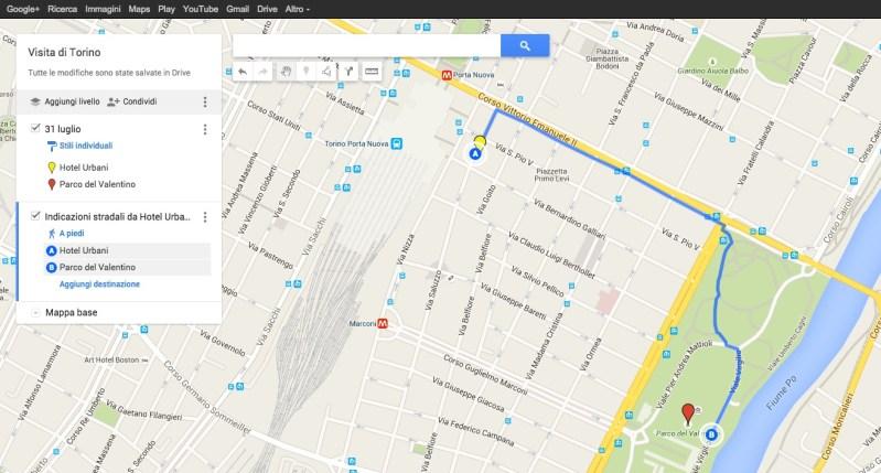 Percorso a piedi su My Maps