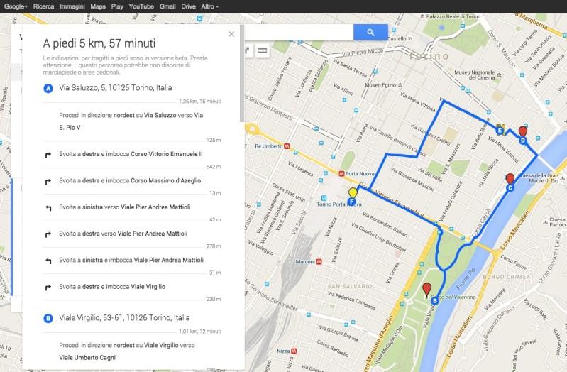 Ottenere tempi di tragitto con Google My Maps