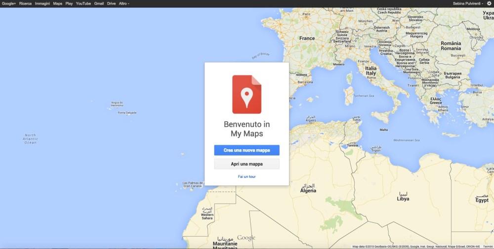 Le mie mappe: come creare un nuovo itinerario