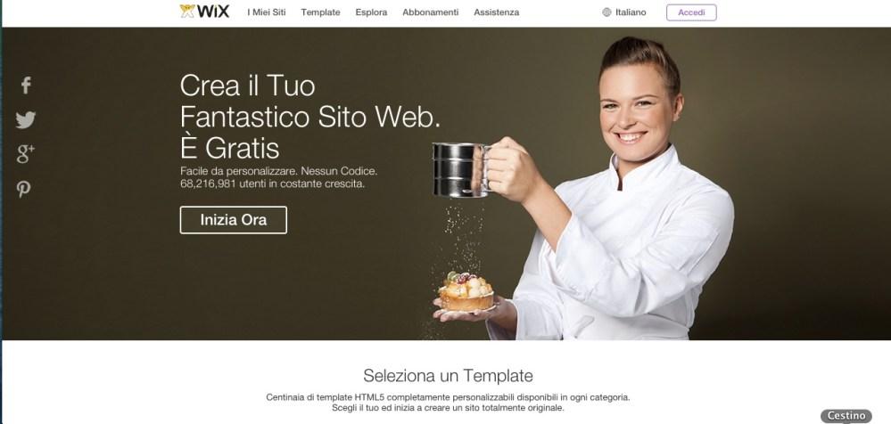 Come creare un sito web con Wix: registrati