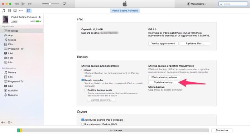 Come ripristinare un iPhone o un iPad - Settimo passo