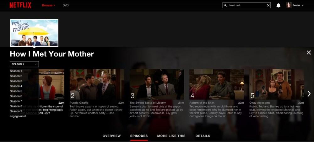 Netflix: tutti gli episodi di tutte le stagioni sempre a disposizione