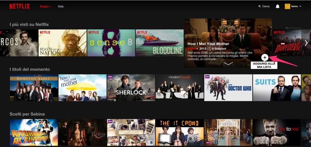 Netflix: come aggiungere un film alla tua lista