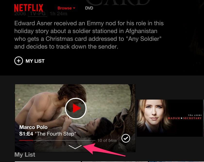 Netflix: come aprire la scheda del film