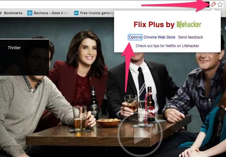 Flix Plus: come accedere alle opzioni