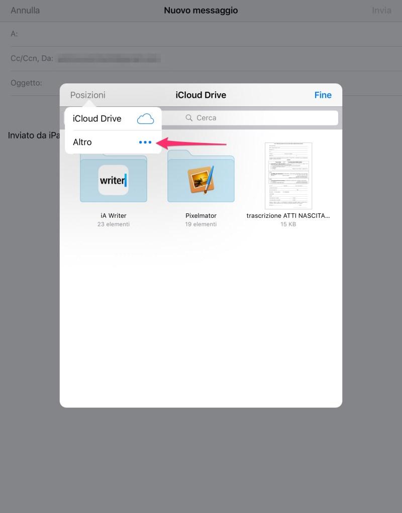 Inviare in allegato un file su Dropbox via iOS Mail - 3