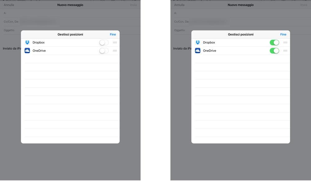 Inviare in allegato un file su Dropbox via iOS Mail - 4