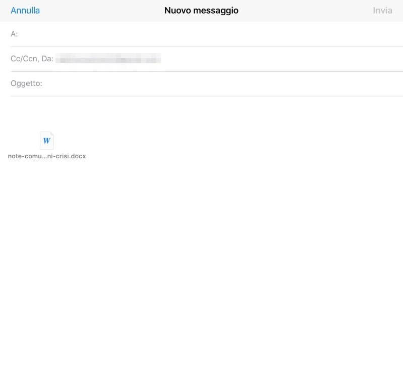 Inviare in allegato un file su Dropbox via iOS Mail - 6